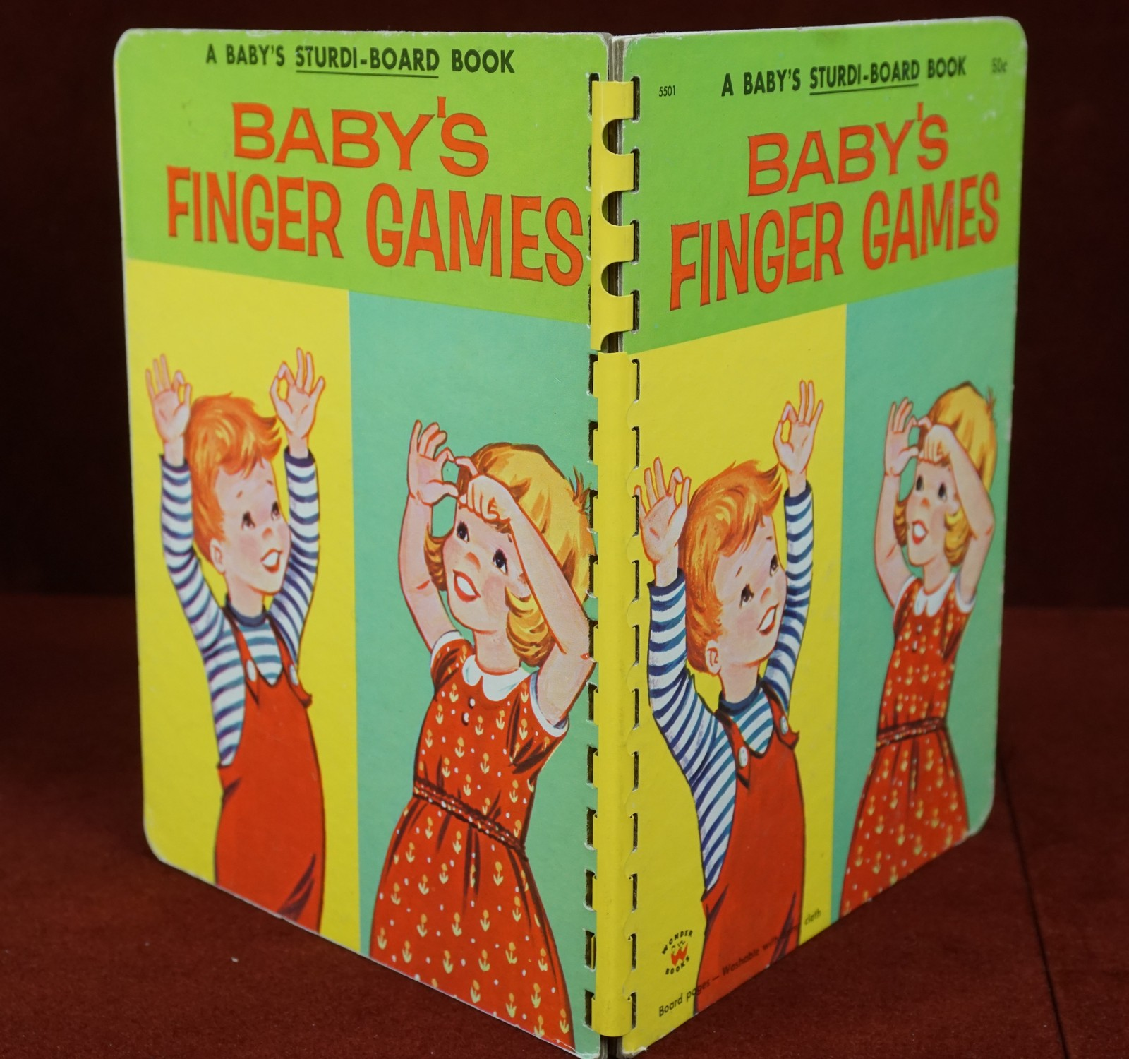 Baby's Finger Games A Baby's Sturdi-Book 1959 Board Book Childrens