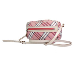 Burberry Blue Label Nylon Canvas Leather Red Cross-Body Shoulder Bag - $189.00