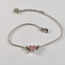 SILVER 925 BRACELET JACK&CO WITH HEART STYLIZED AND ZIRCONIA CUBIC JCB0858 - $74.45