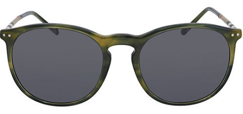 7a9e0306abdb ... Burberry Men s Striped Green Round Sunglasses BE4250Q 365987 - Made In  Italy ...