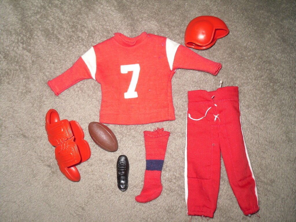 Mattel Barbie Doll Football Outfit - #799 Touchdown Ken - 1963 BW Label image 1