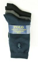 POLO RALPH LAUREN NEW KIDS BOYS 3 PAIRS SUPER SOFT CREW DRESS SOCKS 9-11 - $10.88