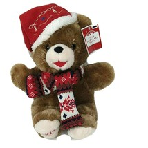 Dan Dee Little Snowflake Teddy Bear 2019 Brown Christmas in Scarf & Hat ... - $19.79