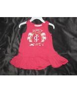 Juicy Couture Baby Girl Pink Drop Waist Ruffle Dress 12-18 Gold Logo Tank - $14.84