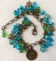 Zodiac Pisces Beaded Charm Bracelet - $24.00