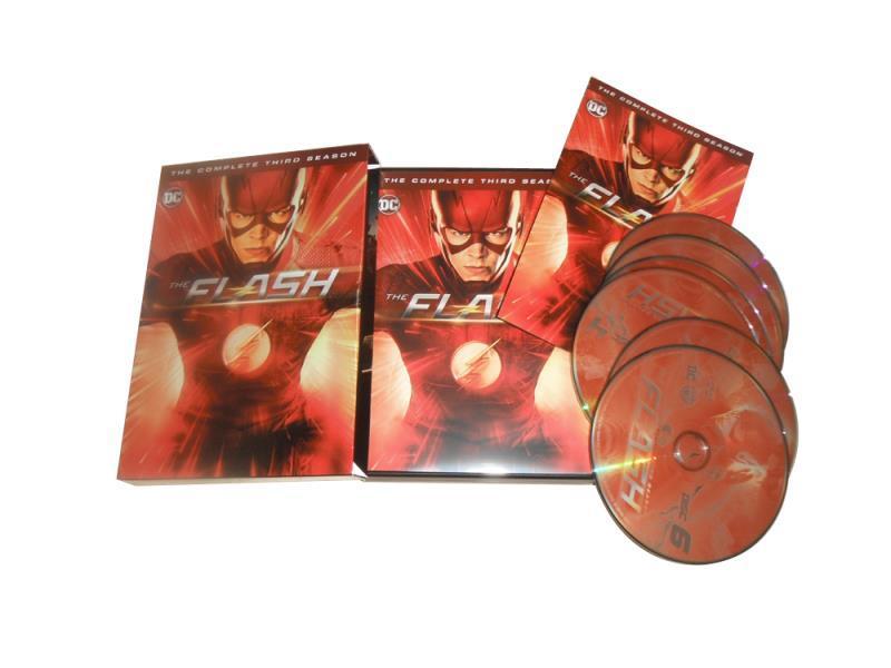 The Flash The Complete Third Season 3 DVD Box Set 6 Dsic Free Shipping