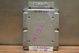 1991 Ford Escort 1.9 SOHC AT Engine Control Unit ECU F1CF12A650MA Module 58 14E2 - $17.81