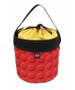Red Building Blocks LEGO Bricks Travel Storage Cinch Bucket Tote Toy Org... - $39.59