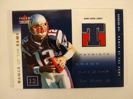 Tom Brady Fleer Genuine Names of the Game Dual Game Worn Jersey Tim Couch /50 - $386.05