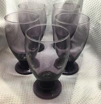 Libbey Purple Plumb Juice Glasses Set Of 5 - $27.08
