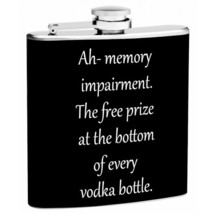 6 oz Memory Impairment Hip Flask with Funnel - $14.45