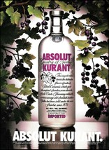 Absolut Vodka 1994 Kurant ad 8 x 11 Black Currants advertisement print - $4.95