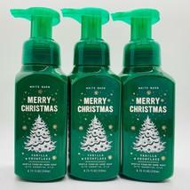 3 Bath & Body Works Vanilla Snowflake Merry Christmas Gentle Foaming Han... - $26.72