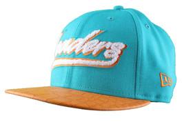 Leaders1354 Chicago New Era Varsity Teal/Orange Strapback Baseball Hat Cap Miami image 2