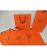 Hermes Orange Gift Bag Lot of Five different sizes - $54.95