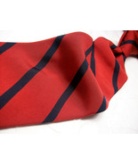 BREUER  Red/Blue STRIPES  Italy/FRANCE  Mens 100 SILK  Necktie 8-88 - $44.99