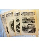 4 Issues April 4 11 18 25 1863 Harpers Weekly ReIssued Historic Newspapers - $14.99
