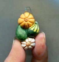 Halloween Thanksgiving Gourds Charm Ornament Miniature Autumn Art Biel #12 - $5.94