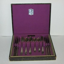 Oneida Madelon 1930's Silver Plate Cutlery Set For 6 1935 Tudor Plate 22 Pcs - $124.99