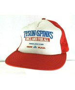 Vintage Tyson Spinks Once and For All Trump Plaza Red Baseball Cap  Snap... - £38.65 GBP