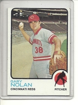 (b-31) 1973 Topps #260: Gary Nolan- Factory Error - off-set Cut - $6.50