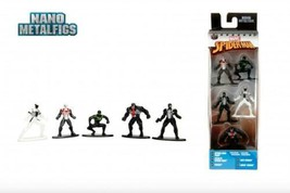 Marvel Spiderman Exclusive Pack B Action Figures/Toys 5CT Nano Metalfigs - $10.88