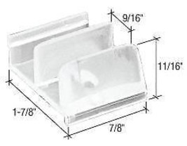 "1-7/8"" Sliding Shower Door Bottom Guide Package - $17.57"