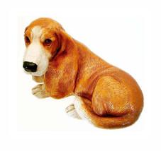 Basset Hound Dog Statue 1988 HOMCO Home Interiors Sculpture Glass Eyes R... - $45.00
