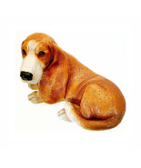 Basset Hound Dog Statue 1988 HOMCO Home Interiors Sculpture Glass Eyes R... - $45.00