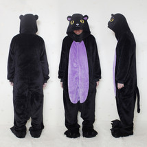 Flannel Lovers Women Black Cat Pajamas One Piec... - $28.88