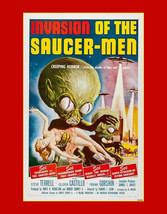Invasion of the Saucer Men-vintage horror, sci fi movie ad,  Sci Fi post... - $15.99