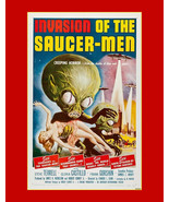 Invasion of the Saucer Men-vintage horror, sci fi movie ad,  Sci Fi poster, flyi - £11.62 GBP