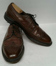 Cole Haan Men's Cambridge Wingtip Leather Lace-Up Loafers Brown 11 M Brog - $59.40