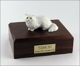 Angora Cat Figurine White Pet Cremation Urn Available 3 Different Colors... - $169.99+