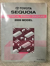 2009 toyota sequoia electric wiring diagram manual ewd 09 oem factory wear - $12.69