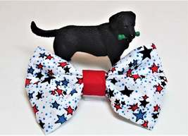 Patriotic bows for dog collars, Fourth of July cat bow tie, Veterans Day... - $5.25