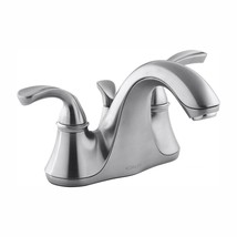 KOHLER Bathroom Faucet 4 in. Centerset 2-Handle Low-Arc Brushed Chrome - $137.30