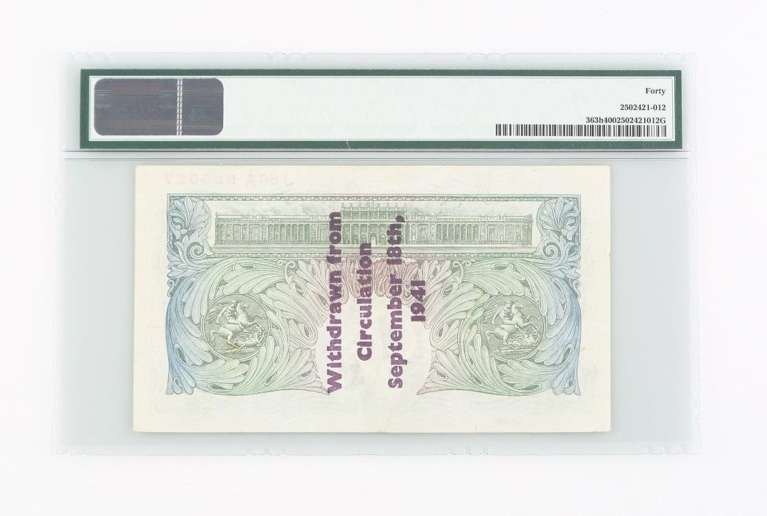 1934-1939 ND Gran Bretaña Libra xf-40 PMG Banco de Inglaterra EXTRAORDINARIA image 2