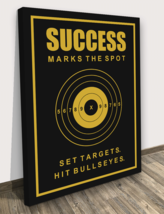 Target Bullseyes Success Motivational Wall Canvas Print Office Decor Mod... - $52.40+