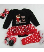 Baby Girl's Christmas Outfit Bodysuit Black Tutu Dress Clothes Costume 3-6M - $13.09