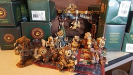 Boyds Bears & Friends Figurines 14 Piece Nativity Set With Boxes Bearsto... - $79.95