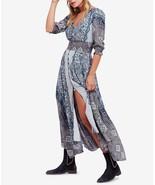 NWT FREE PEOPLE MEXICALI ROSE BLACK COMBO MAXI DRESS M - $156.74