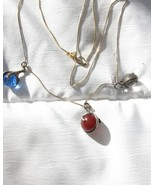 Vintage Sterling Silver and Gold Pools of Light Necklace - $193.05