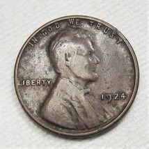 1924-D Lincoln Wheat Cent VG Coin AD216 - $40.57