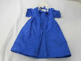 Pleasant Company Felicity American Girl Christmas Story Blue Gown Dress + Hat - $54.48
