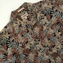 Campia Moda Hawaiian Aloha Shirt Plumeria Palm Leaves Size XL - $34.60