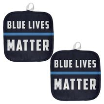 Police Blue Lives Matter Thin Blue Line All Over Pot Holder (Set of 2) - $18.95