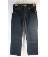 Arizona Jeans Boys 10 Regular Straight Leg Adjustable Super Dark Wash 26x24 - $13.85