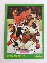 1973-74 Topps #73 Jean Ratelle Hockey Card EX Condition New York Rangers KV1 - $3.99