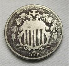 1869 Shield Nickel VG Details Coin Estate Piece AE314 - $19.28